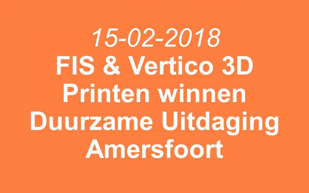 FIS en Vertico-3D Beton Printen winnaars Duurzame Uitdaging Amersfoort 2018
