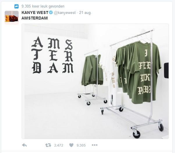 Kanye snapt wel wat klant wil
