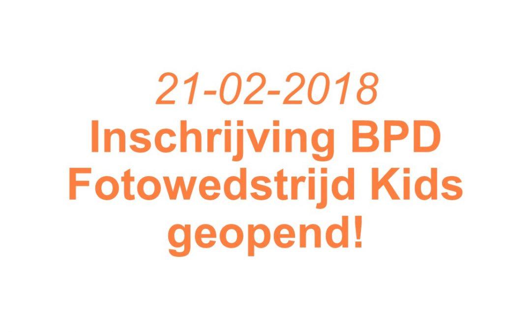 Inschrijving BPD Fotowedstrijd Kids geopend