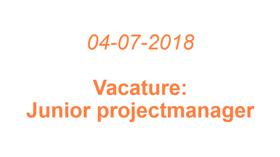 Vacature: junior projectmanager