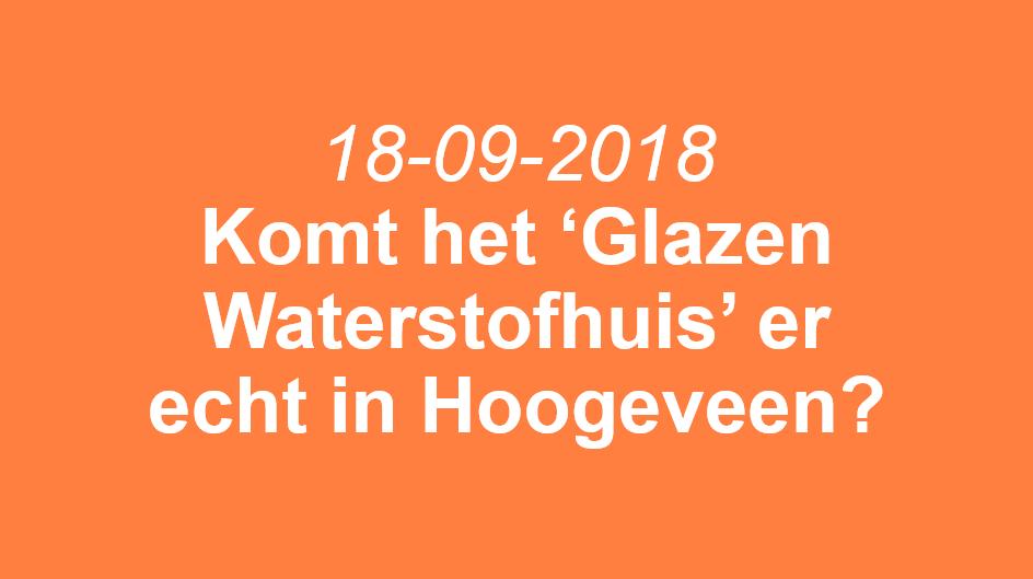 Vragen over Waterstofhuis aan college Hoogeveen
