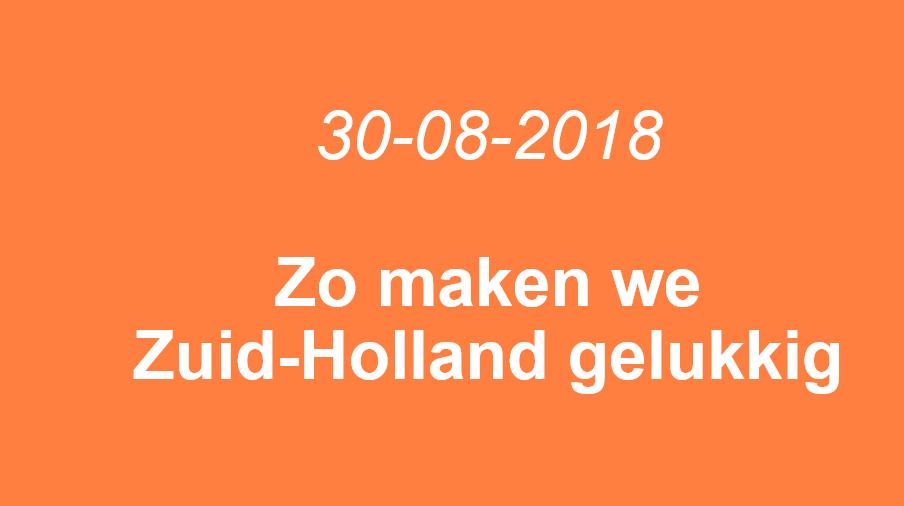 Zo maken we Zuid-Holland de gelukkigste provincie van Nederland